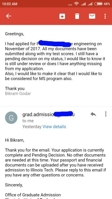 It has been two months since I have applied for graduate