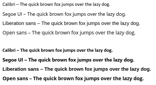 What font looks just like Calibri (in MS Word)? - Quora