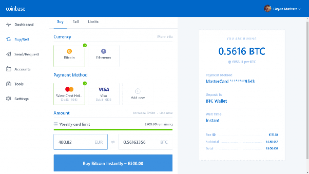 coinbase or blockchain wallet