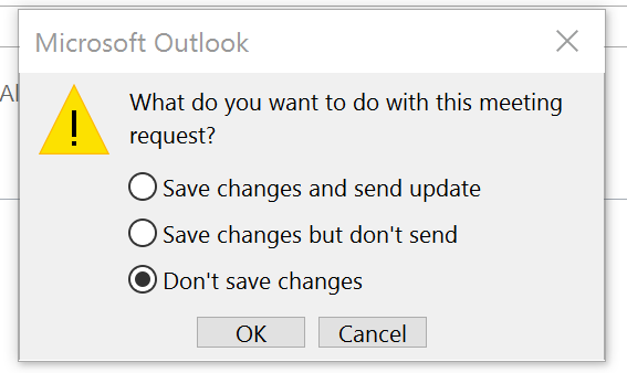 how to change calendar invite on outlook