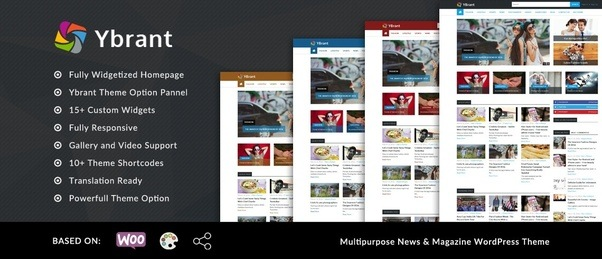What is a good magazine wordpress theme with a left side vertical ...