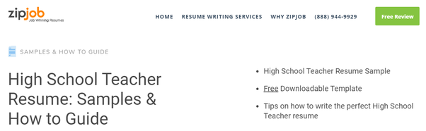 What Is The Best Teacher Resume Sample Quora