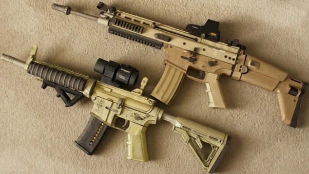 Cardboard Hydraulic Ar : Can the scar be considered an ar style rifle quora