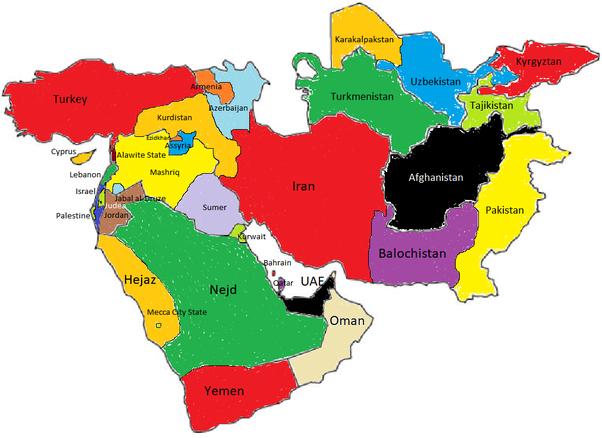 How would you redraw the borders in the Middle East? - Quora