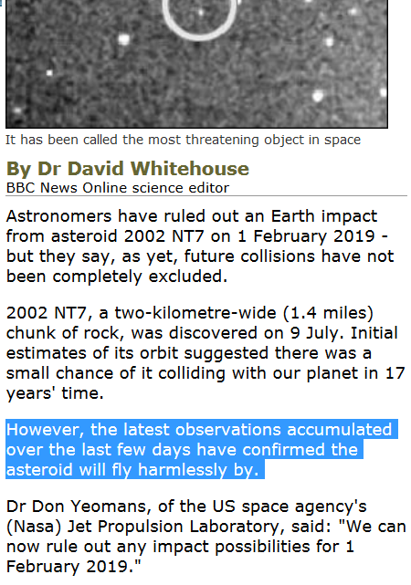 Is asteroid called 2002 NT7 going to make an impact ...