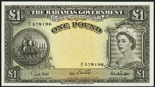 The Central Bank Of Bahamas One Dollar