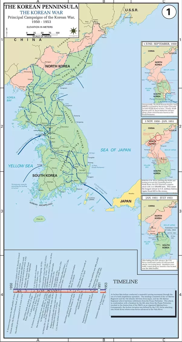 Why Was North Korea Not Invaded Totally By US During The Korean - 38th Parallel Us Map