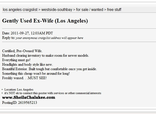 Craigslist dating site los angeles