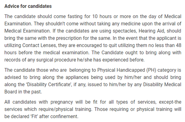 What's the medical fitness test of UPSC civil services like