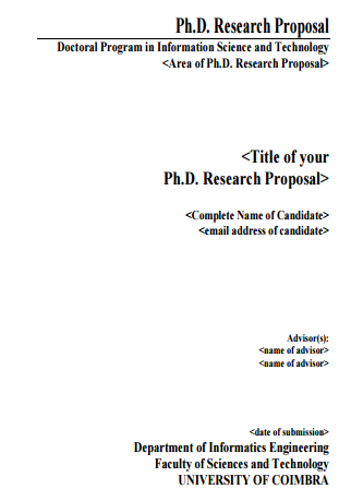 Where Can I Find Some Good Examples Of A Phd Research Proposal Quora