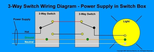 How to wire a 3-way switch with 2 lights - Quora  Way Switch Wiring Diagram With Lights on easy 3 way switch diagram, three pole switch diagram, 3-way switch wiring diagram variations, 3-way switch to single pole light, 3-way switch circuit variations, 3 wire switch diagram, 3-way electrical wiring diagrams, 3-way switch common terminal, 3-way dimmer switch wiring, 3-way switch diagram multiple lights, california three-way switch diagram, 3-way light switches for one, two lights one switch diagram, 3-way light circuit, easy 4-way switch diagram, 2 switches 1 light diagram, 3-way switch 2 lights, 3-way switch wiring examples,