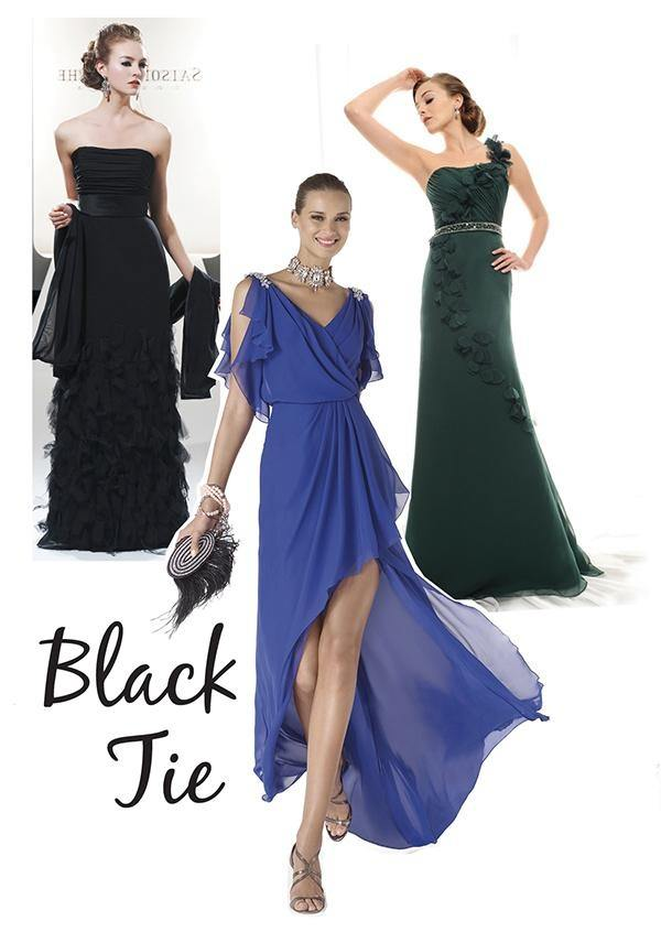 what should a woman wear to a black tie wedding in nyc