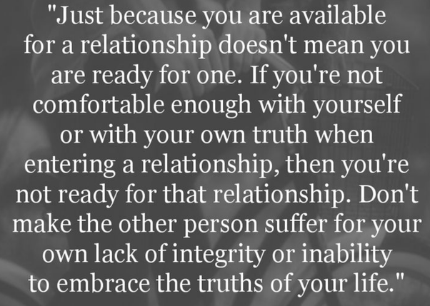 How to know if you are ready for a relationship or not - Quora