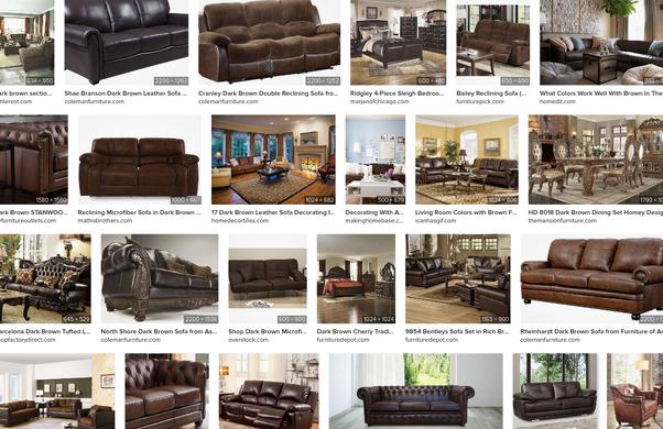 With Dark Brown Furniture, Brown Furniture Living Room Colors
