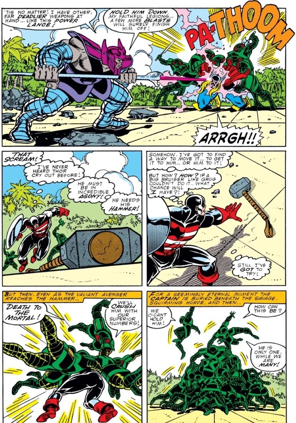 In the comics, can Captain America lift Thor's hammer all ...