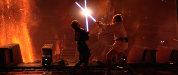 Why Do People Think The Fight On Mustafar Between Anakin And Obi Wan Looked Too Choreographed Quora