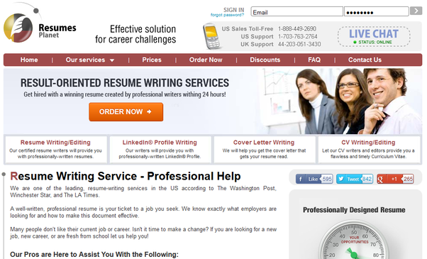 services offered resume writing this entails