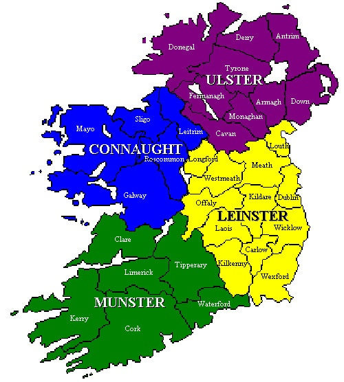 ireland divided into two countries