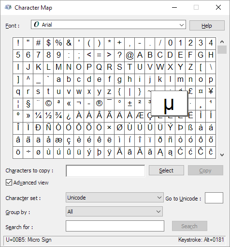 How To Type The Micrometer Symbol In Word Quora