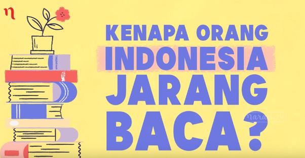 minat membaca indonesia yang rendah
