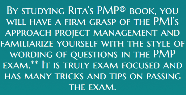 My sister is appearing for pmp es rita mulcahy eighth edition if you are preparing for the pmp exam based on pmbok 5h edition then this book is suitable for your preparation there are some changes in jan 2016 pmi fandeluxe Gallery