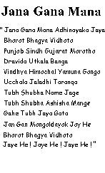 The National Song Of India