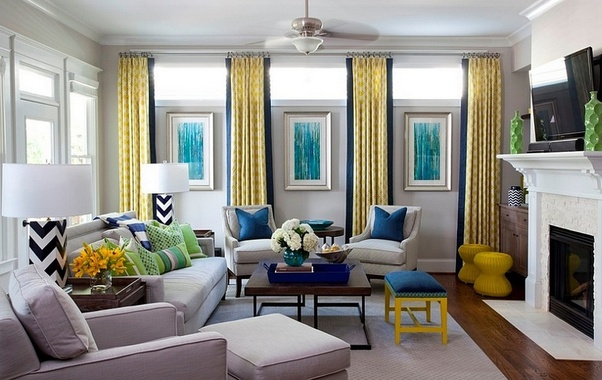 What Color Of Curtains Would Go Well With A Gray Colored