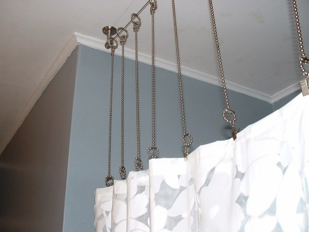 Well-known How to hang curtain rods from the ceiling - Quora YA38