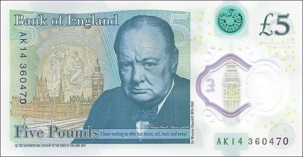 What Is The Meaning Of A Five Pound Note Quora