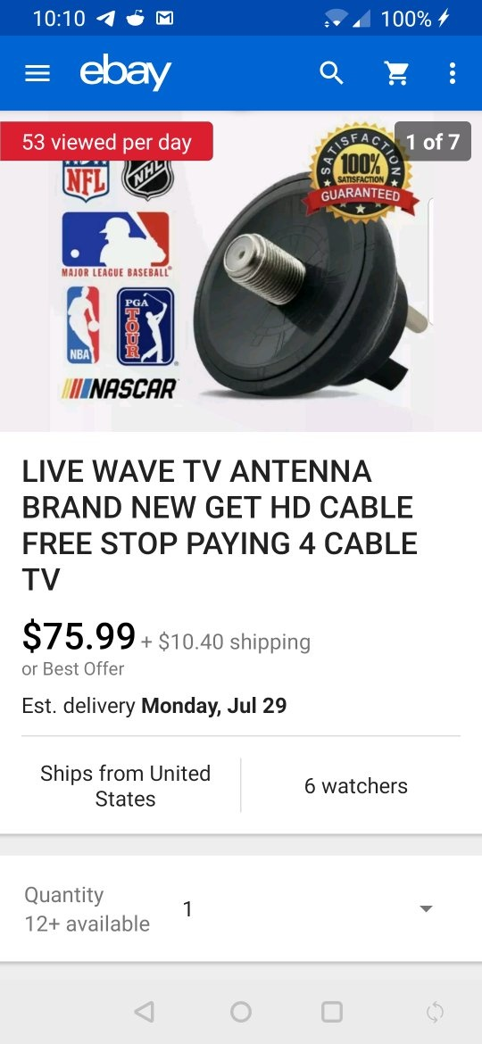 I just bought a digital antenna that claims it will use my whole