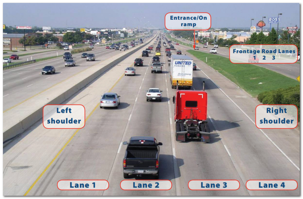 How are highway lanes numbered? Which is lane 1? - Quora