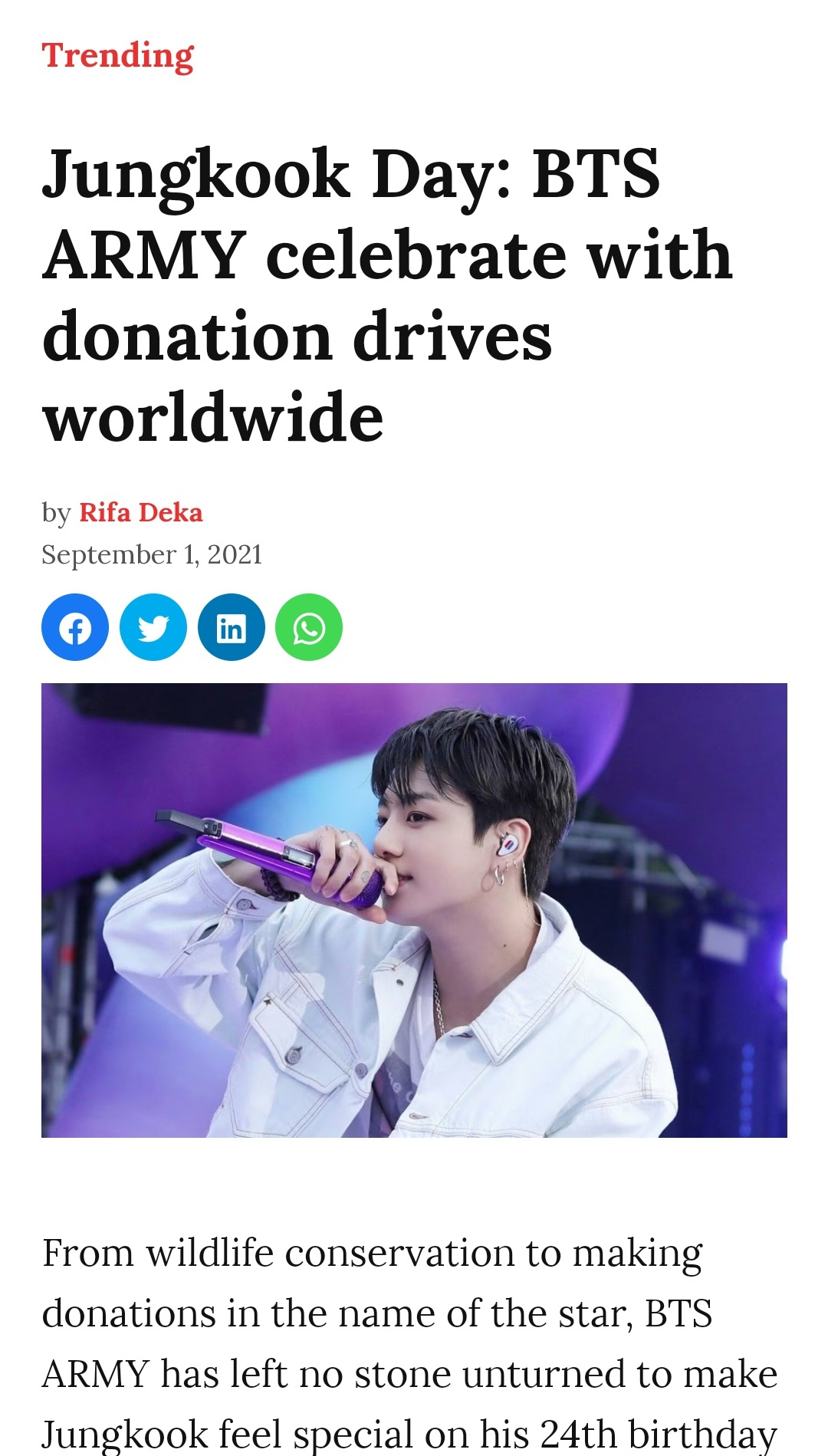 How did BTS and Army celebrate Jungkook's birthday   Quora