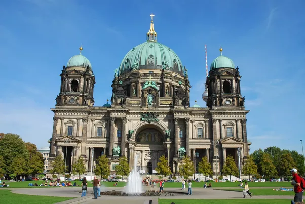 The German Cathedral Berliner Dom With Its Magnificent Dome Is A Remarkable Example Of Late 19th Century Architecture Near Are Also