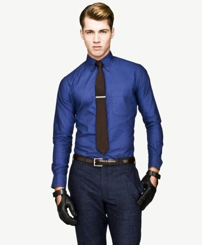 Black Dress Shirt Blue Tie