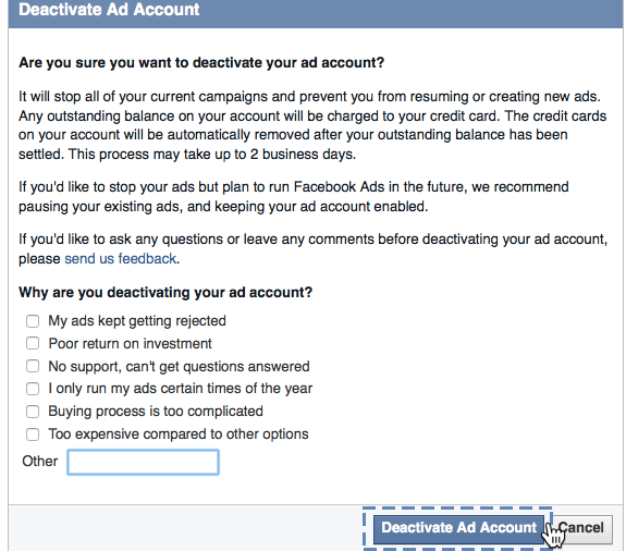 How to delete my Facebook ad account - Quora