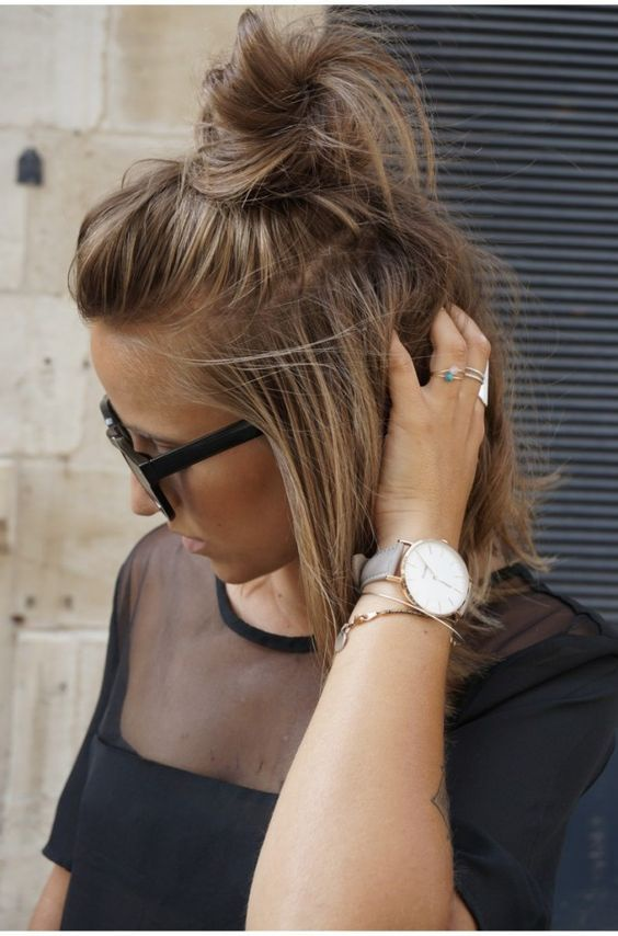 How To Create A Messy Bun In Your Shoulder Length Hair Quora