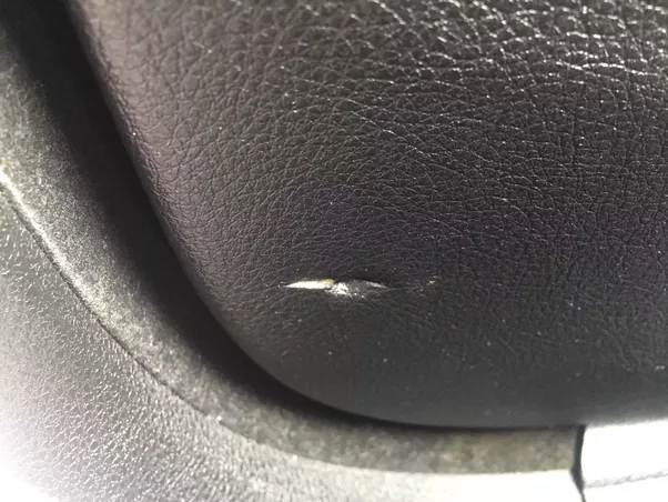 These are caused by the seat belt not going up fast enough and then the door being slammed shut on top of them only then for my passengers to move the belt ... & If you slam shut a car door does it cause any damage? - Quora