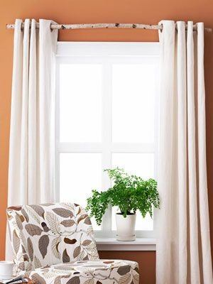 What color of curtains will go with orange walls? - Quora