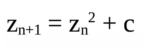 Risultati immagini per mandelbrot formula