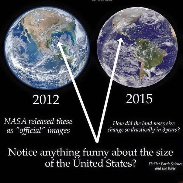 As A Proof I Can Put Two Official Pictures Of Earth Side By In This Post Look At The Continents They Are Different Size