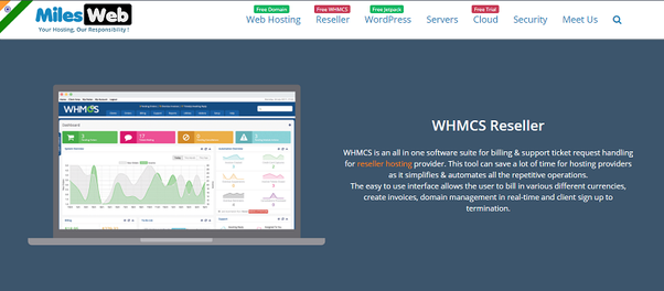 Which company provides WHMCS with reseller hosting plans