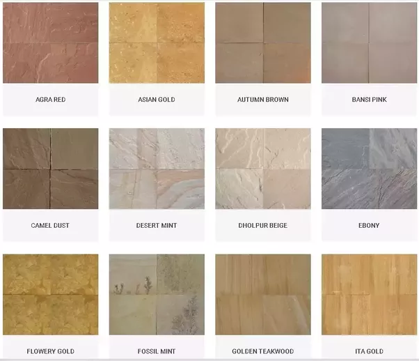 Who is the best dealer for natural sandstone in india quora for Cheapest type of flooring