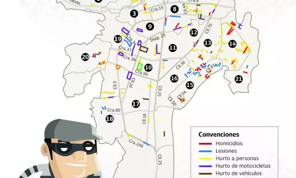 What are the good and bad neighborhoods of cali colombia quora this map shows crimes by zone in cali the numbers are communes so to simplify it think very well before going to calis eastern zone further than cll 25 publicscrutiny Image collections