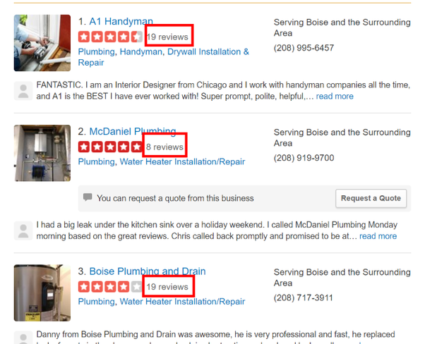 which reviews are more reliable yelp or google the rating