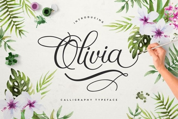 Featuring 351 Elegant Glyphs Olivia Script Is A Sophisticated And Graceful Modern Calligraphic Typeface Suited To Use On Everything From Wedding