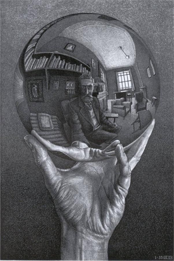 Look at the drawings of mc escher hes not a living artist but he was a technical master mc escher drawings