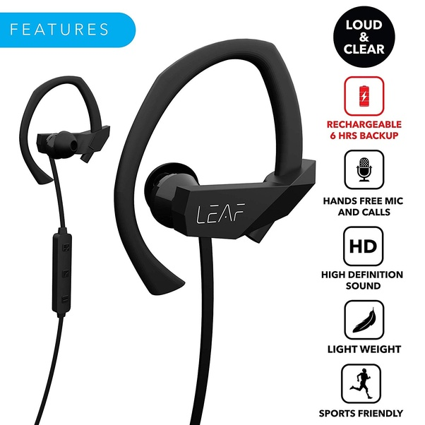 1934559d0a4 Leaf Sport delivers a powerful experience to pump you up for the day. It's  bluetooth 4.1 technology produce perfect stereo sound quality. This earphone  ...