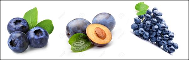 which fruit has blue colour quora