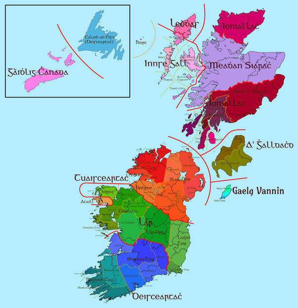 Map Of Canada Languages.What Are The Traditional Dialects Of Irish Language Quora