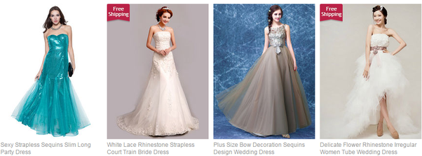 Where online can I buy a wedding dress and accessories that are ...